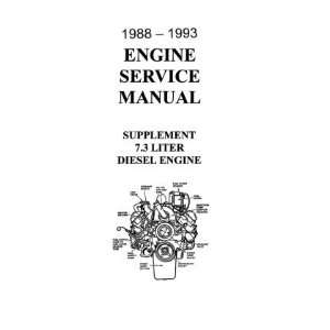 1988 1992 1993 FORD 7.3 DIESEL Engine Service Manual