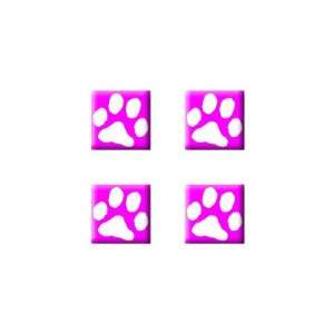 Paw Print Pink   Dog Cat   Set of 4 Badge Stickers Electronics