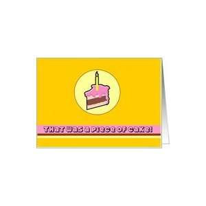 Piece of Cake 50th Birthday Card Toys & Games