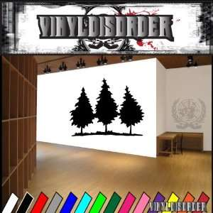 Trees Landscape Tree Line NS015 Vinyl Decal Wall Art Sticker