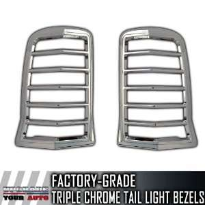 2002 2006 Cadillac Escalade SUV 2pc Chrome Tail Light