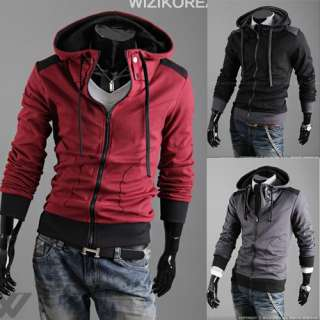 Mens Slim Designed Coat Jacket 3 COLOR 4 SIZE W11