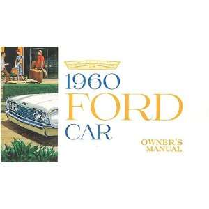 1960 FORD Car Full Line Owners Manual User Guide Automotive