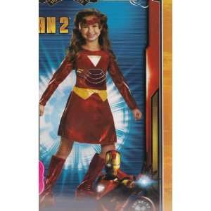 Iron Man 2 Ironette Girls Costume Dress Up Small 4 6x Toys & Games