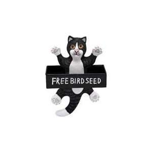 Bird Feeder Cat Black / White (Bird Feeders) (Cat Products