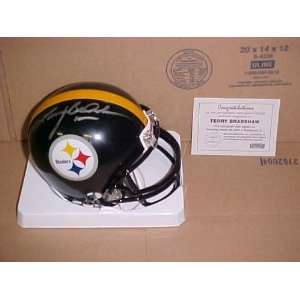 Terry Bradshaw Hand Signed Autographed Pittsburgh Steelers NFL Mini