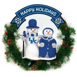 20 NCAA Kentucky Wildcats Happy Holidays Snowman Christmas Wreath