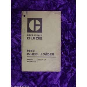 Caterpillar 988B Wheel Loader Operating Guide Caterpillar