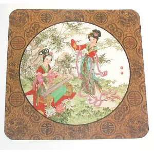 Set of 6 Asian Oriental Decor   Geisha Table/Bar Drink Coasters