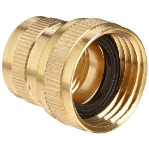 Anderson Metals Brass Garden Hose Fitting, Swivel, 3/4 Female Hose ID