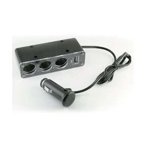 Car&Driver Powercam Inc 12 Volt Universal Triple Socket