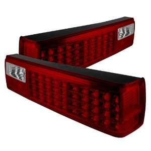 1987 1988 1989 1990 1991 1992 1993 Ford Mustang LED Tail Lights   Red