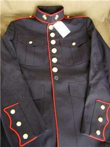 NEW GENUINE US MARINE CORP DRESS BLUE JACKET SIZE 42R ANODIZED BUTTONS