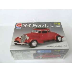 #6686 AMT/Ertl 34 Ford Street Rod 1/25th Scale Plastic