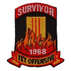 Of Tet Offensive 1968 Patch Red & Black 3 Patio, Lawn & Garden