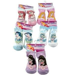 PAIR Disney Princess Snow White Belle Cindi Toddler Baby Booties