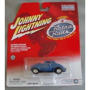 Johnny Lightning Retro Rods 33 Willys Coupe BLUE #15 Toys & Games
