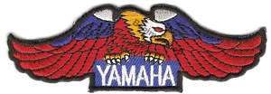 YAMAHA Logo EMBROIDERED Iron Patch T Shirt Sew Cloth