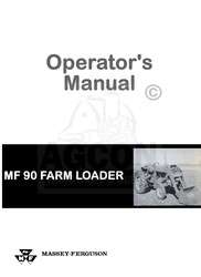 Massey Ferguson 90 MF90 Tractor Loader Operator Manual