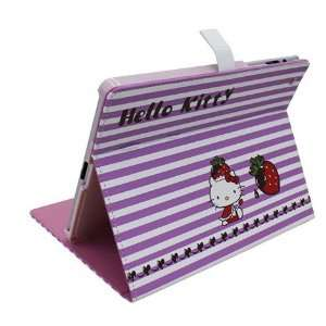 Cute Hello Kitty Leather Case Stand for Apple iPad2 iPad3
