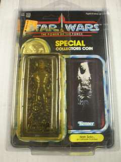 POTF HAN SOLO (IN CARBONITE CHAMBER) # 93770 MINT ON VG  CARD