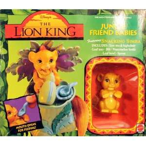 The Lion King Jungle Friend Babies Snacking Simba Toys & Games