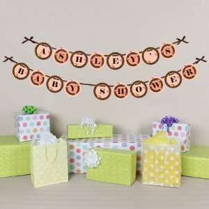 Having A Baby   Personalized Garland   Baby Shower Letter Banner Toys