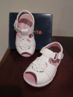 NEW Stride Rite Toddler Girls Lorna White Sandals Shoes