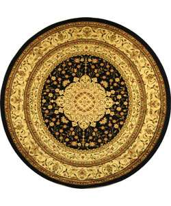 Collection Mashad Black/ Ivory Rug (8 Round)