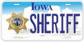 Iowa Sheriff Aluminum Novelty Car Tag License Plate