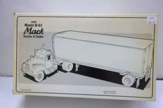 FIRST GEAR 1960 MODEL B 61 MACK TRUCK DIE CAST REPLICA