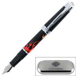 Harley Davidson Free wheel Flames Fountain Pen
