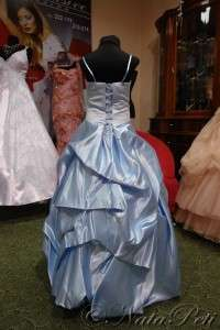 FLOWER GIRL PAGEANT PARTY HOLIDAY DRESS 959 BLUE SIZE 8 10