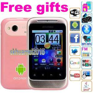 GSM Unlocked deal Sim WIFI Android 2.2 AT&T Cute free gifts smart cell