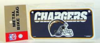 San Diego Chargers NFL Football Metal Bike Tag NEW