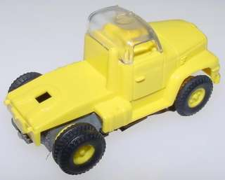 AURORA HO SLOT CAR VIBE CLEAR ROOF LEMON SEMI CAB TRUCK