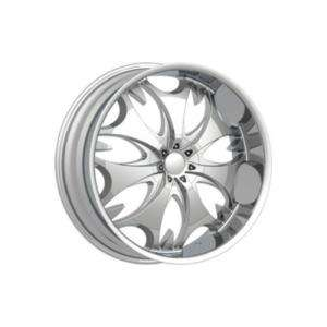 24 Phino PW68 DUB Escalade Wheel SET Chrome RIMS Tahoe