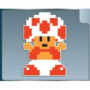 MUSHROOM PRINCESS 8 bit from Super Mario Bros. vinyl decal