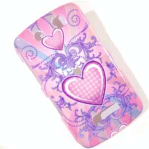 New Pink Purple Celtic Heart Design Blackberry 9500 Storm