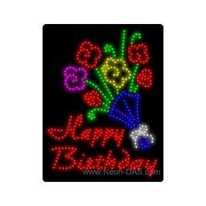 Happy Birthday LED Sign 26 x 20