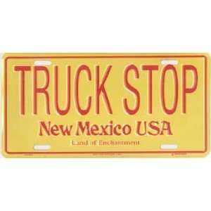 New Mexico Truck Stop Metal License Plate Tag Sports