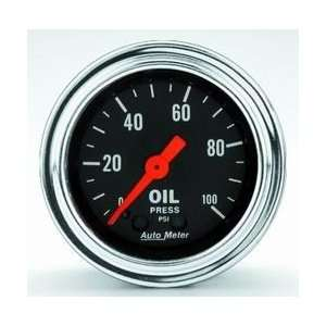 Auto Meter 2421 0 100 OIL PRESSURE GAUGE Automotive