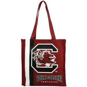 South Carolina Gamecocks Garnet Team Stripe Canvas Tote