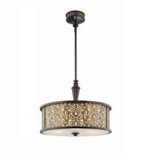 Hampton Bay Melosa 3 Light Hanging Antique Br Pendant