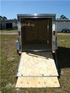 NEW 5x8 5 x 8 Motorcycle Enclosed Cargo Trailer Ramp