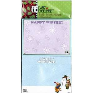 Mary Engelbreit Happy Winter Self stick Note Pads