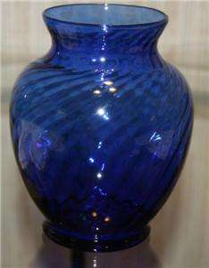 Indiana Glass Cobalt Blue Spiral Vase Sticker Pretty