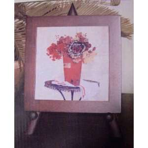 Decor ~ Hand Painted Tile (With Wooden Easel Stand)