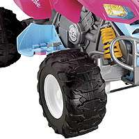 Power Wheels Fisher Price Kawasaki KFX Quad Ride On   Barbie   Power