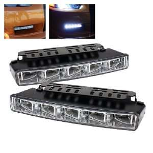 Universal DRL ( Engine Activated ) LED Lights   Chrome Automotive